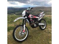 Husqvarna TC250 Road legal Motox Bike with Enduro Kit swap for a quad