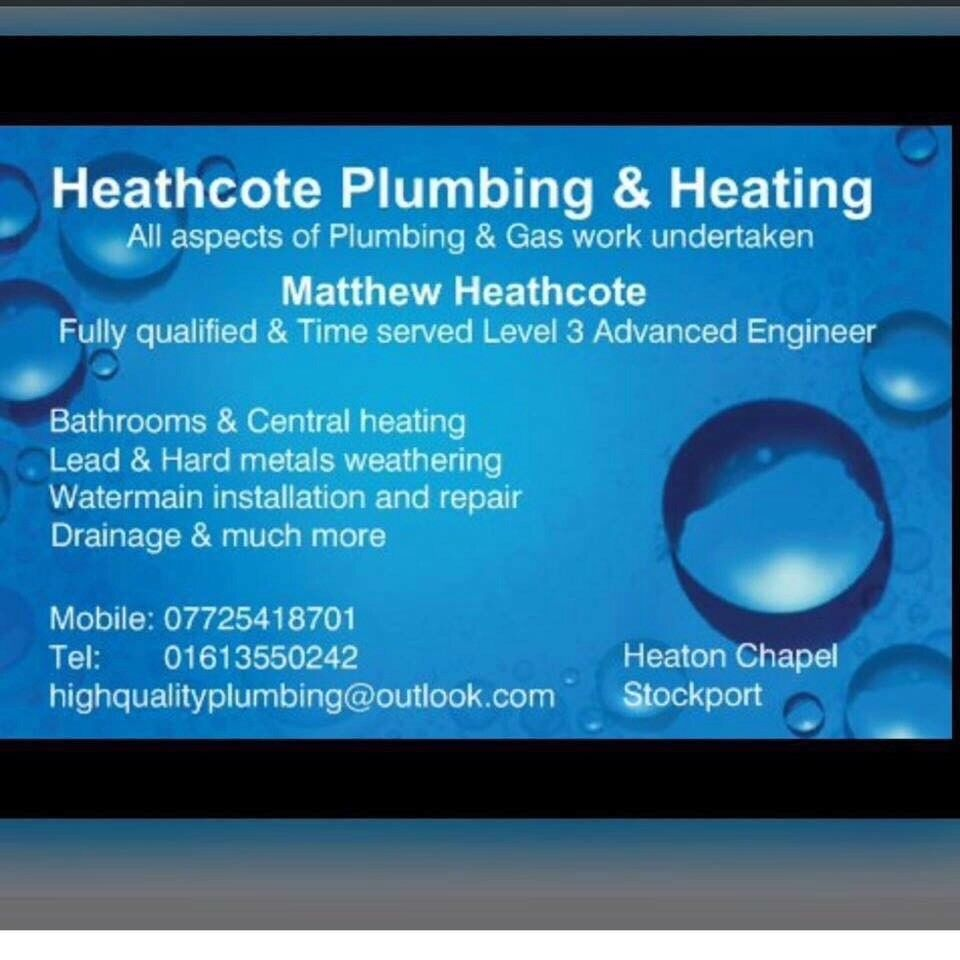 Heathcote Plumbing & Heating | in Stockport, Manchester | Gumtree
