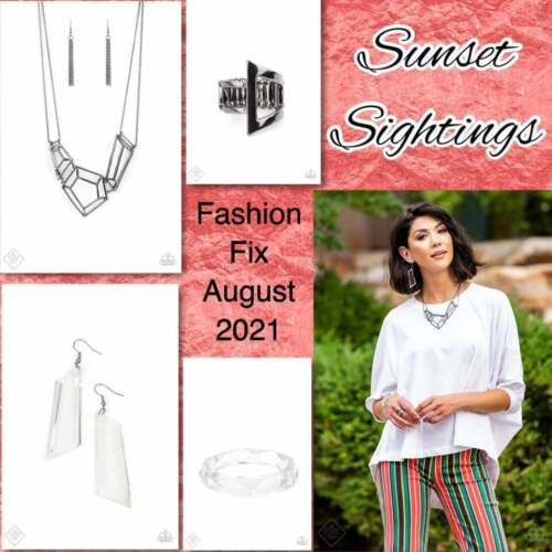 """NEW PAPARAZZI🔥SUNSET SIGHTINGS""""AUGUST FASHION FIX COMPLETE 4 PC SET🔥NEW 8/21"""