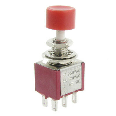 4 Pcs Ac 250v 2a 120v 5a Dpdt 2no 2nc Momentary Push Button Switch