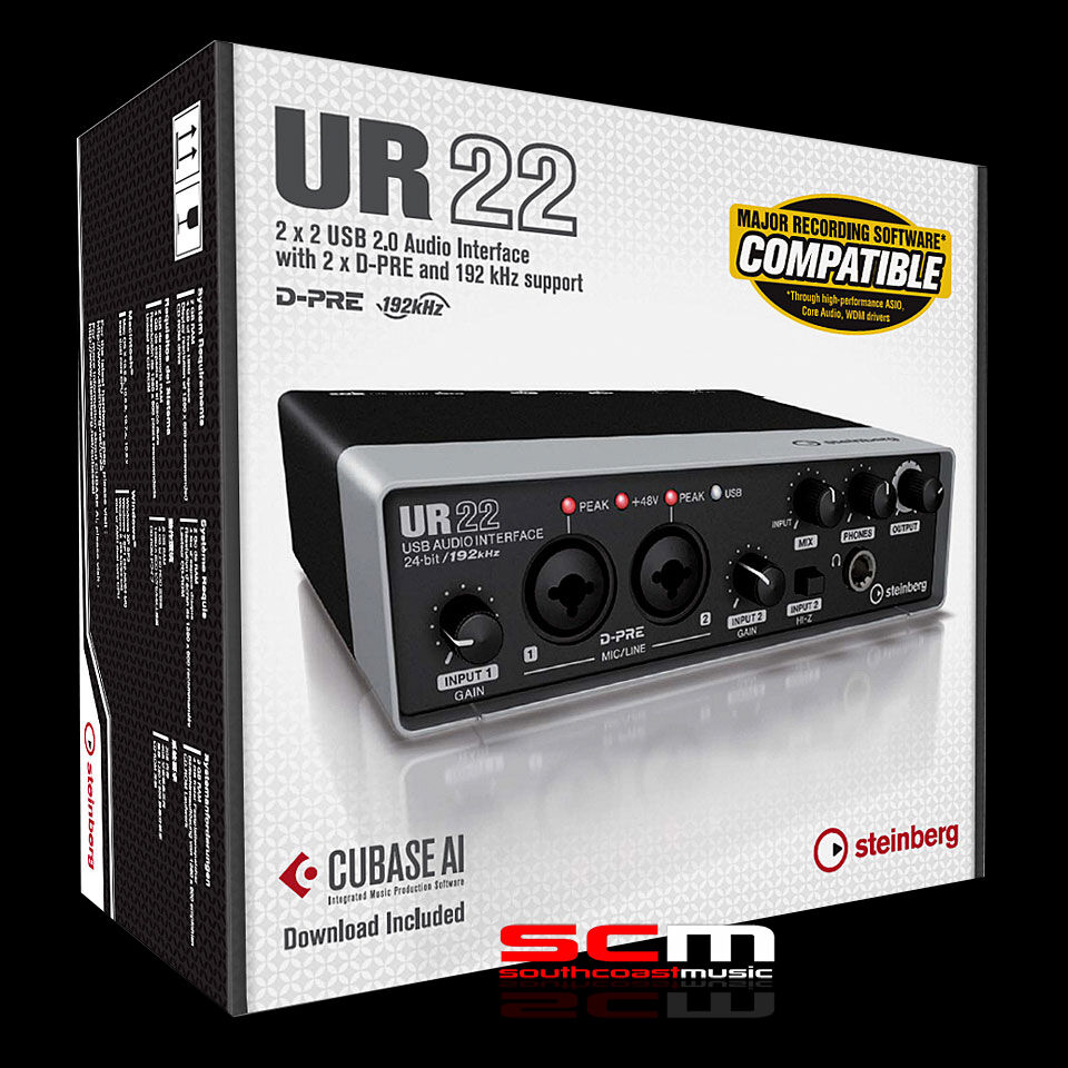 Details about STEINBERG UR22 MKII AUDIO INTERFACE YAMAHA PREAMPS CUBASE AI  SOFTWARE