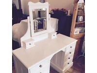 Lovely Laura Ashley style DRESSING TABLE with Mirror.