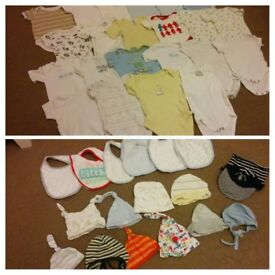 Big bundle of boys summer clothes and accessories 0-6mnths
