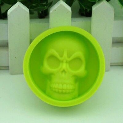 SILICONE SKULL GREEN MOULD FOR  CAKE DECORATING SWEETS JELLY ICE CUBE HALLOWEEN