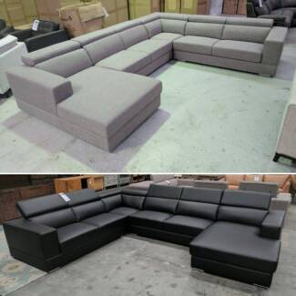LARGE DESIGNER CORNER LOUNGES WITH CHAISE