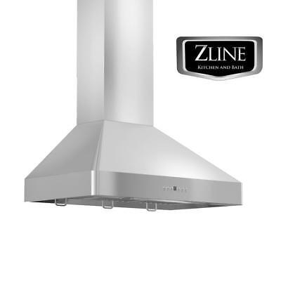 "30"" ZLINE Kitchen WALL MOUNT RANGE HOOD STAINLESS STEEL BAFFLES LED KF2-30"