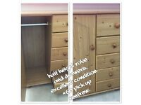 Pine bedroom furniture. All in excellent condition