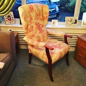 Beautiful winged armchair