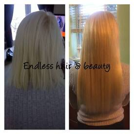 Mobile Hair extension service. Fully qualified, experienced and insured.
