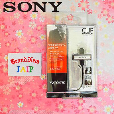 SONY☆Japan-ECM-CS3 Condenser Compact Business Microphone Tie clip,JAIP