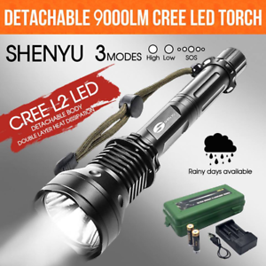 9000Lm CREE XM-L2 USB LED 18650 Rechargeable Battery Flashlight