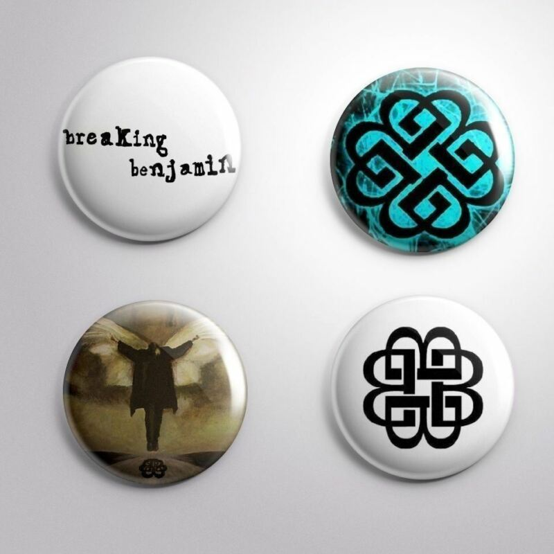 4 BREAKING BENJAMIN - Pinbacks Badge Button Pin 25mm 1