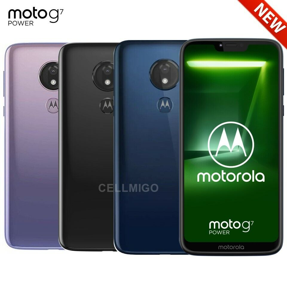 "Android Phone - Motorola Moto G7 Power (32GB, 3GB) 6.2"" Dual SIM 4G LTE GSM Unlocked XT1955-2"