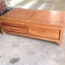 Huge solid wood coffee table with drawers on both sides Albury Albury Area Preview