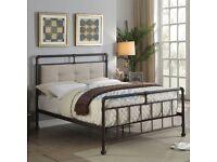 New 6FT 4 DOUBLE BED METAL FRAME TUBE DESIGN STUNNING BARGAIN