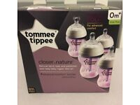 Tommee Tippee closer to nature advanced comfort bottles and spares.
