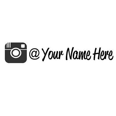 2X Your User Name Instagram This Euro Drift Vinyl Decal Sticker Jdm Oil Slick