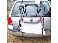 Halford Car rack bike carrier which takes two Bikes
