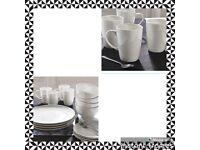 16 Piece White Porcelain Dinner Set