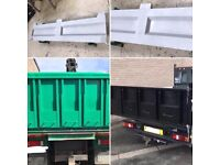 Tipper Truck Tailgate Tailboard Made to measure tarmac chutes for ford transit iveco etc.