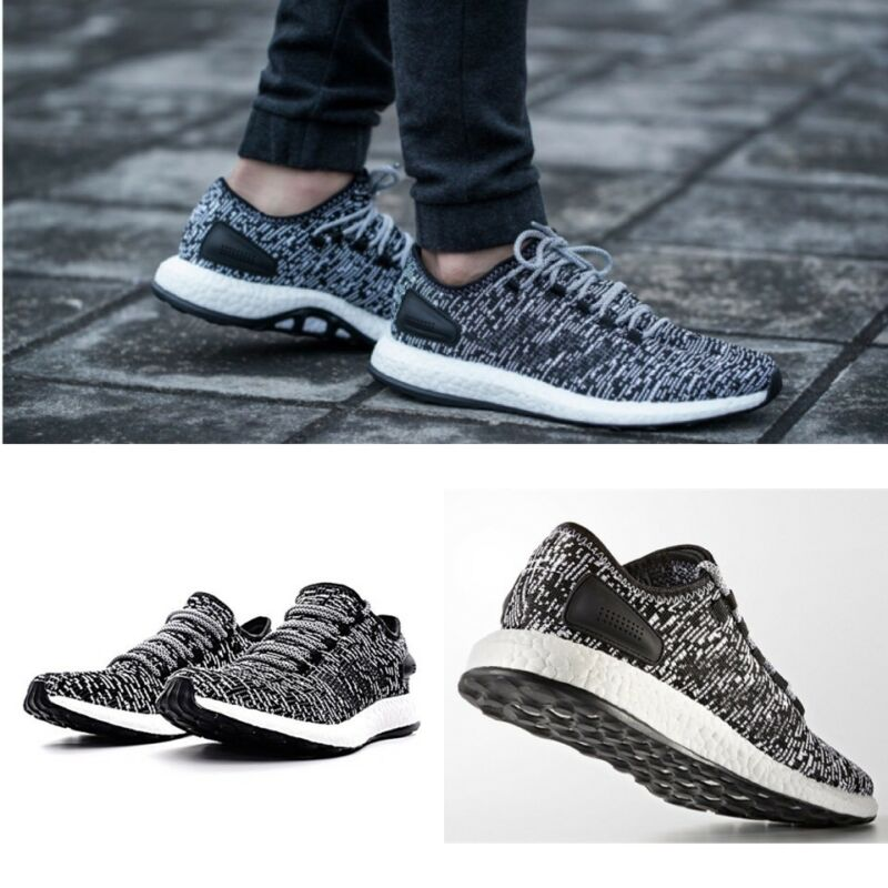 reputable site fb37e d39e4 Adidas Pure Boost Oreo Core Black Running Shoes BA8890 Men s Size 11.5