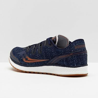 sports shoes d98b2 36038 New Mens Saucony Freedom ISO Running Shoes Size 9.5 Navy - Denim - Copper