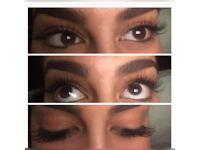 Semi permanent individual eyelash extensions and microdermabrasion