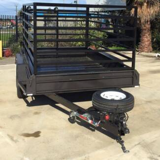 10x5 Tandem Trailer with Cattle Crate (Australian Made) Morphett Vale Area Preview