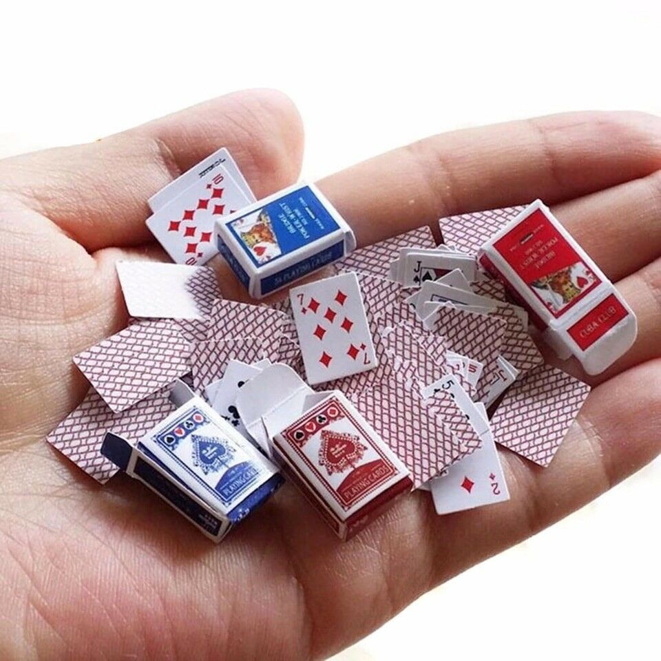 6861 Mini Poker Mini Poker Cards Small Miniature Fun 2 Pcs Playing Cards Outdoor