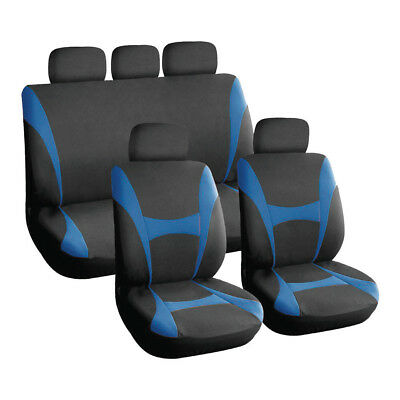 Blue and Black, Sporty Car Seat Covers, Front & Rear NISSAN JUKE PRIMERA QASHQAI