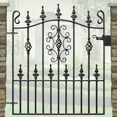 3ft frame height Wrought Iron single garden Gate-3ft 3in (991mm) opening-AVON