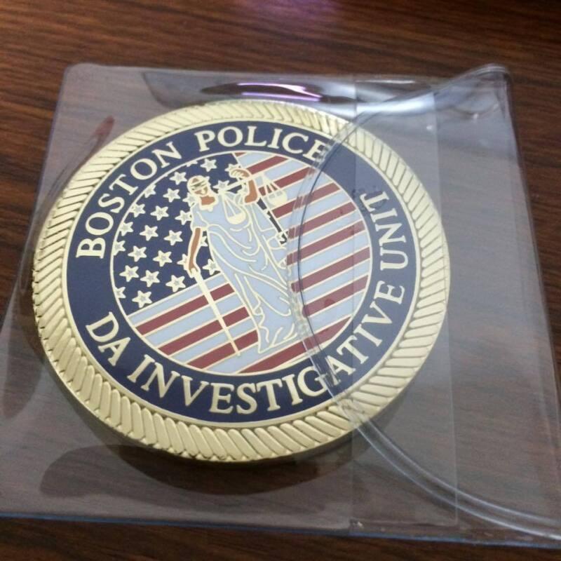 Boston Mass. Police District Attorney Investigative Unit Challenge Coin