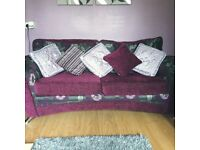 3-1-1 suite if furniture excellent con,lilac purple and grey.