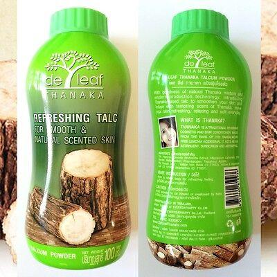 De Leaf Talcum powder W Tanaka or Thanaka Best natural skin care products (Best Body Powders)