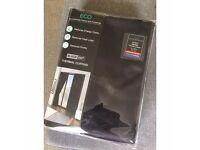 BLACK THERMAL CURTAINS - NEVER OPENED!