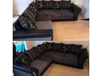 -- SEAL PACK -- SHANNON CHENILLE FABRIC CORNER SOFA OR 3+2 SOFA SET IN STOCK NOW