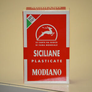 Modiano Italian Siciliane playing cards deck brand new sealed