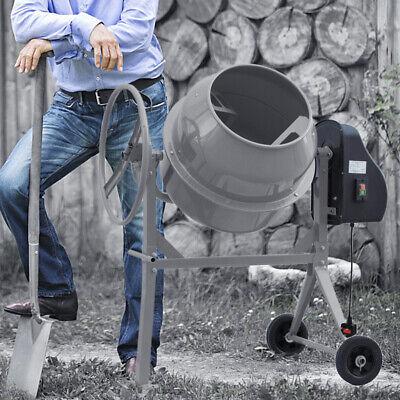 Electric Cement Mixer – Portable Mortar Plaster Concrete Drum 450W 120L