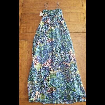 Zara Basic Maxi Dress Floral  Sleeveless Womens Sz XS