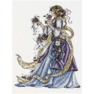 Rose Lady Counted Cross Stitch Picture Kit - Design Works 2493 Designer Rose Cross