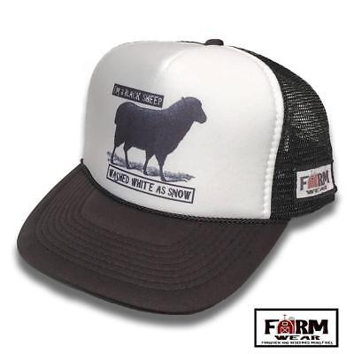 I'm A Black Sheep Washed White As Snow Vintage Style Trucker Hat](Sheep Hat)