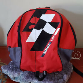 Puma backpack red with black and white logo