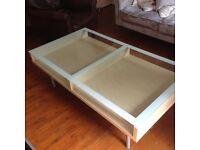 Glass top Ikea Magiker coffee table