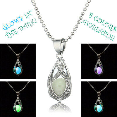 Glow in Dark Pendant Necklace The Little Mermaid