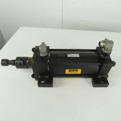 Parker Series 2h Hydraulic Cylinder 4 Bore 8 Stroke 3000psi Side Lug Mount