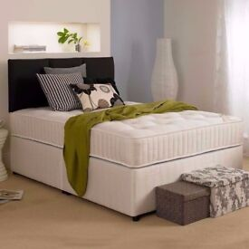 🔴🔵ALMOST HALF PRICE 🔴🔵4FT6 /4FT DOUBLE DIVAN BASE w DEEP QUILT, ORTHO OR MEMORY FOAM MATTRESS