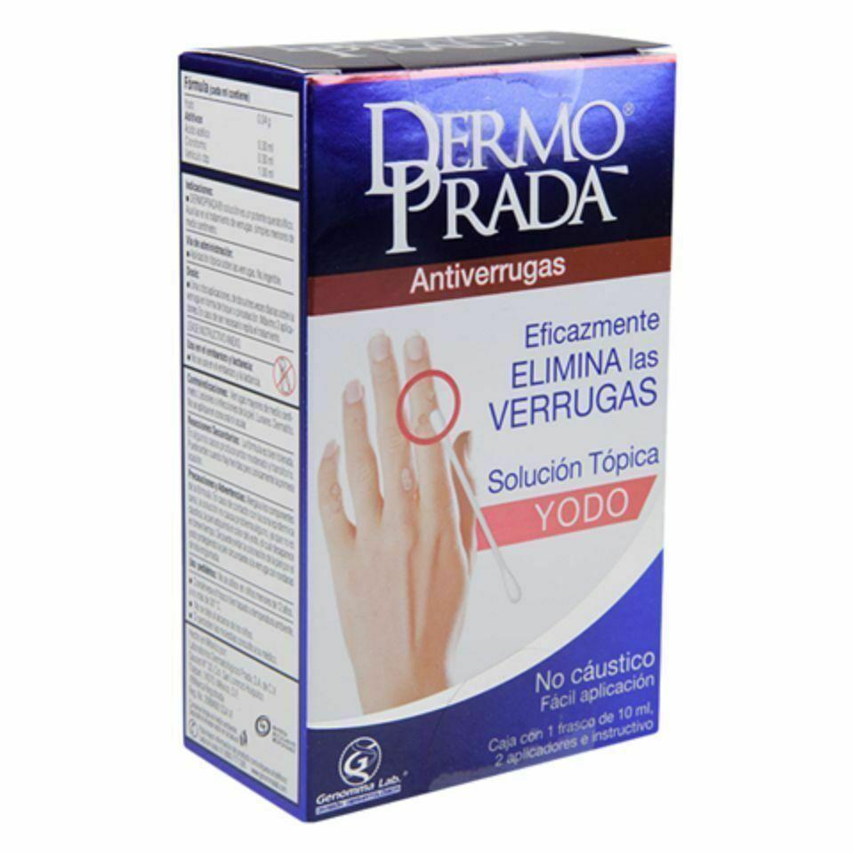 Dermo Prada Yodo Antiverrugas  Dermo Prada Remove Warts Skin