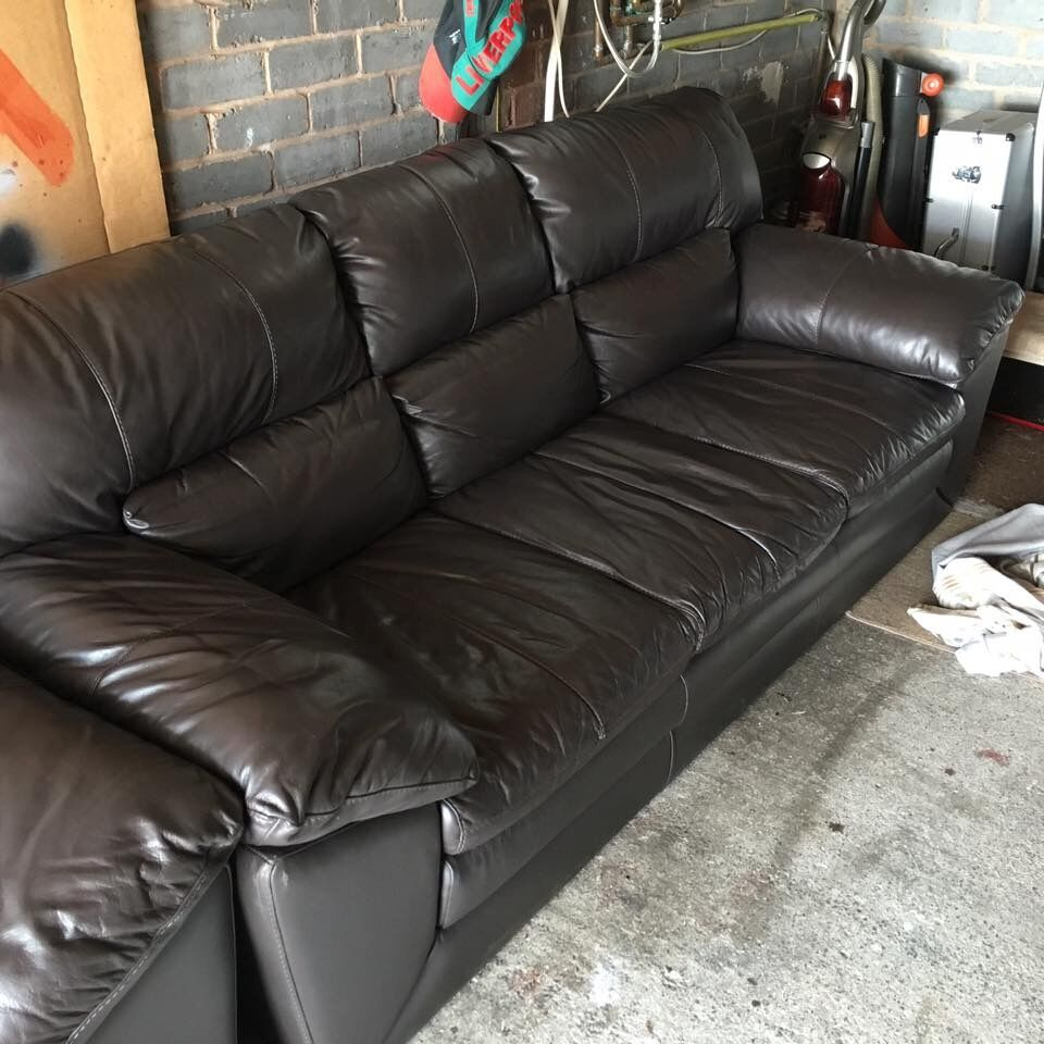 Dfs Valiant 3 Seater Leather Sofa And Armchair In Great