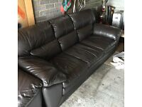 DFS Valiant 3 Seater Leather Sofa and Armchair
