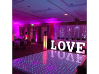 LED Backdrop Hire,LED Dance Floor Hire,LED Mobile Bar,LED Uplighters,Sax Player,Fairy Lights,Bongo